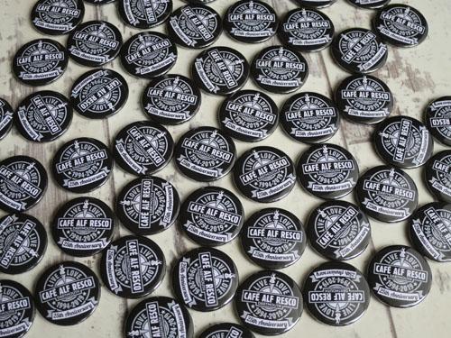 Cafe Alf Resco custom badges