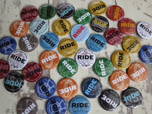 Custom Ride Uber button badges