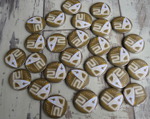 Personalised start trek convention badges