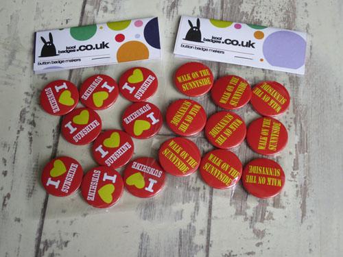 I Love Sunshine Custom Badges