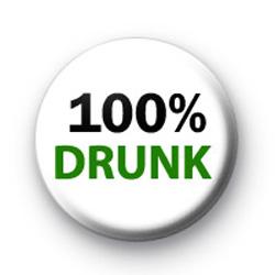 100% Drunk Badge