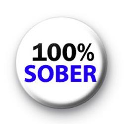 100% Sober Badge
