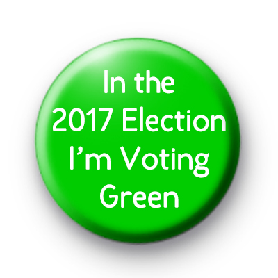 I'm Voting Green Party 2017 general election badge
