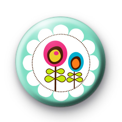 Two Spring Flowers Badge