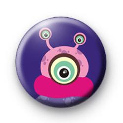 Three Eyed Alien Button Badges