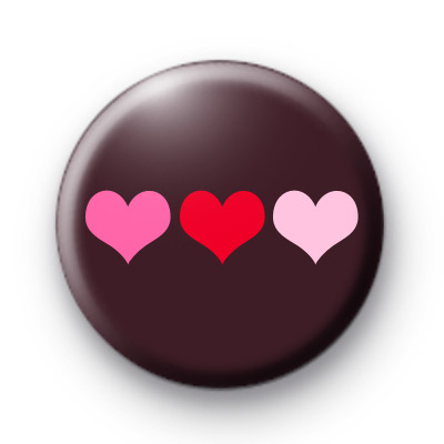 Trio Of Love Button Badges