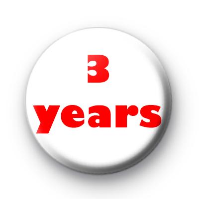 3 Years custom badge