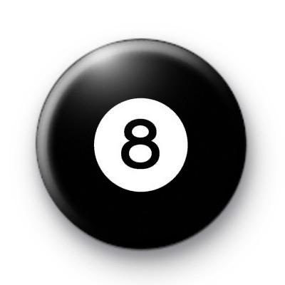 Billiard Ball Birthday Age Number 8 Badge