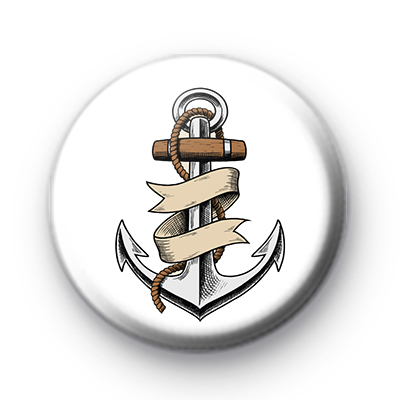 Ahoy Anchor Pin Badge
