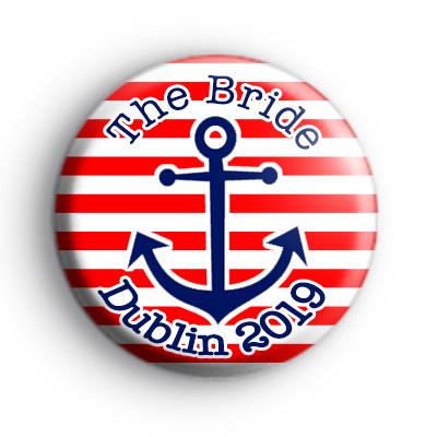 Custom Anchor Bride Hen Party Badge