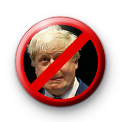 Anti Boris Johnson Button Badge