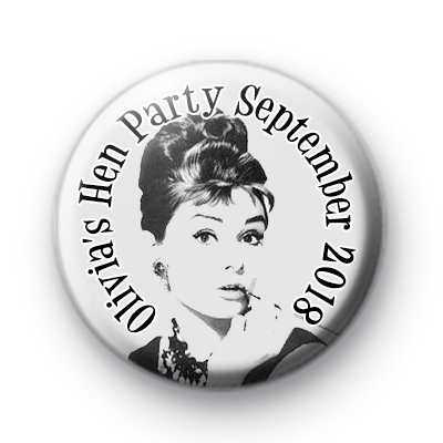 Audrey Hepburn Breakfast at Tiffany's Badge