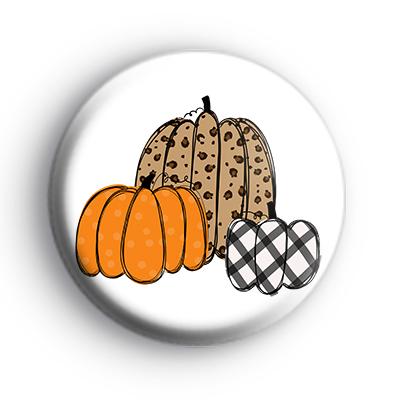 Cute Autumn Pumpkins Badge