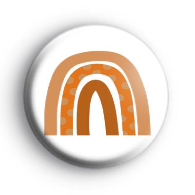 Orange Autumn Rainbow Badge