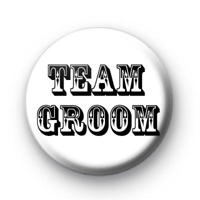 Black and White Team Groom Badge