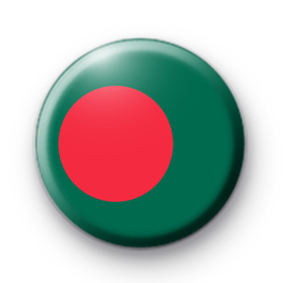 Bangladesh Flag Button Badge