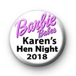Barbie Babes Hen Party Badges
