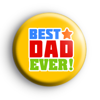 Yellow Best Dad EVER Badge
