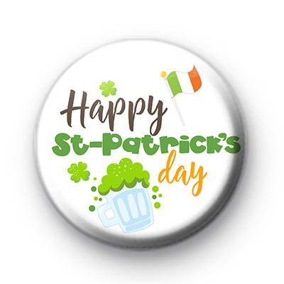 Cool Happy St Patricks Day Badges