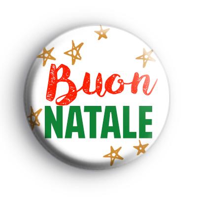 Buon Natale Italian Merry Christmas Badge