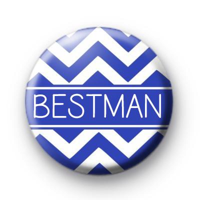Chevron Blue Bestman Button Badge
