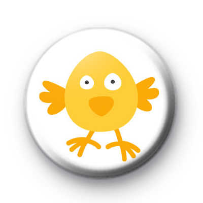 Chirpy Yellow Easter Chick Button Badge
