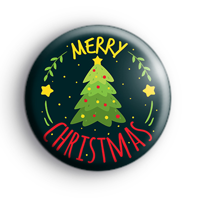 Xmas Tree Merry Christmas Badge