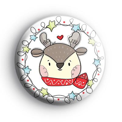 Winter Reindeer Christmas Badge