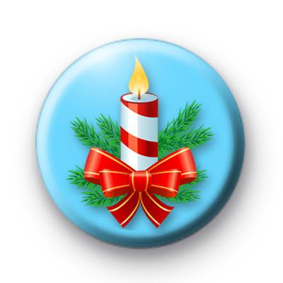 Christmas Candle Badge