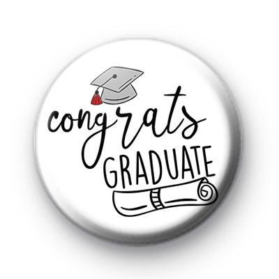 Congrats Graduate School Leaver Button Badge