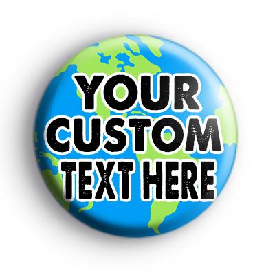 Custom Earth Text Badge