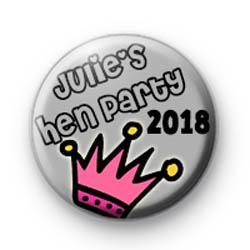 Julies Princess Hen Party Badges