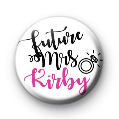 Diamond Ring Future Mrs Button Badge