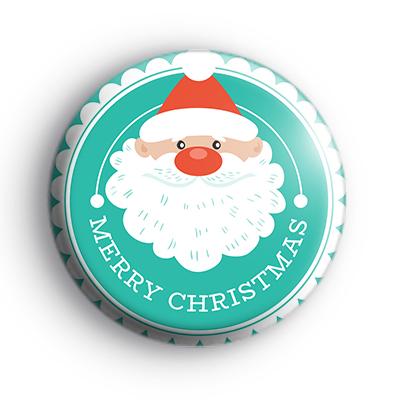 Jolly Father Christmas Merry Christmas Badge