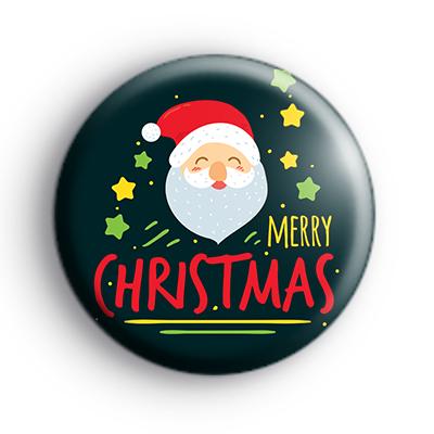Santa Claus Face Merry Chrismas Badge