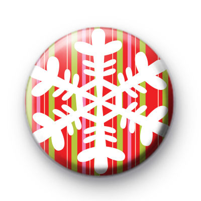 Festive Bright Snowflake Badge