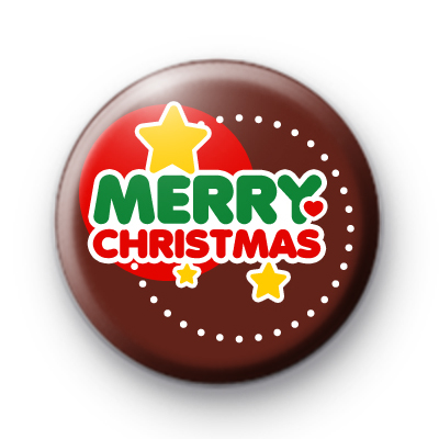 Festive Merry Christmas Stars Badge