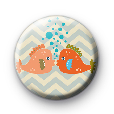 Fish In Love Badges