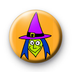Green Faced Wicked Witch Badges