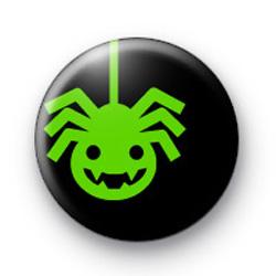 Green Spider Button Badges