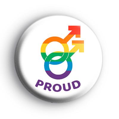 Gay Pride Male Gender Symbols Badge