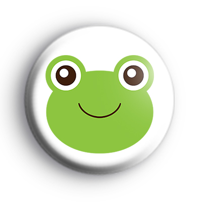 Cute Green Frog Froggy Badge