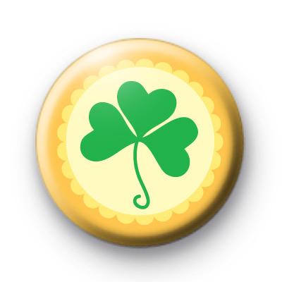 Lucky Irish Shamrock Badges