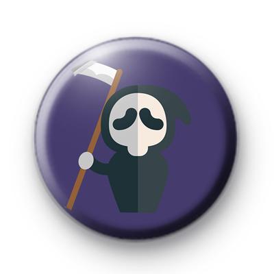 Halloween Grim Reaper Pin Badge
