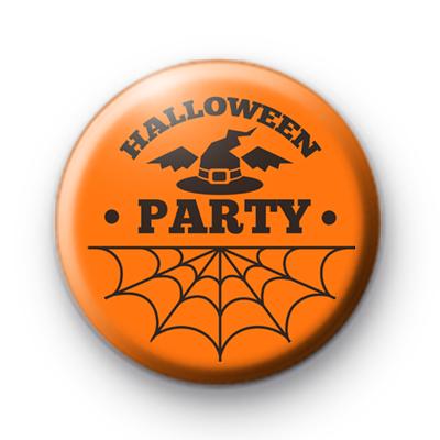 Orange Halloween Party Badge
