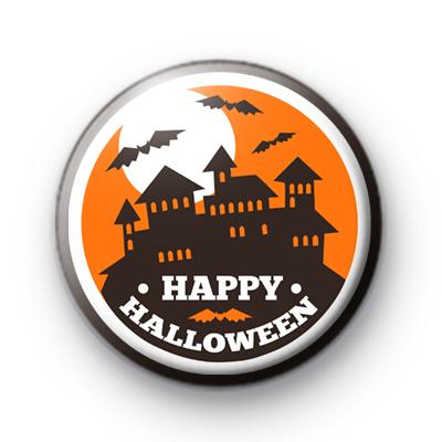 Happy Halloween Haunted House Badge