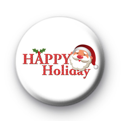 Happy Holiday Santa Badges