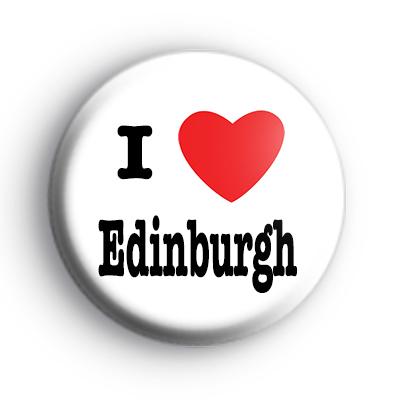 I Love Edinburgh Badge