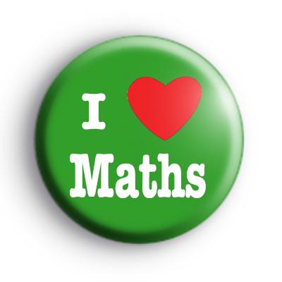 Green I Love Maths Badge