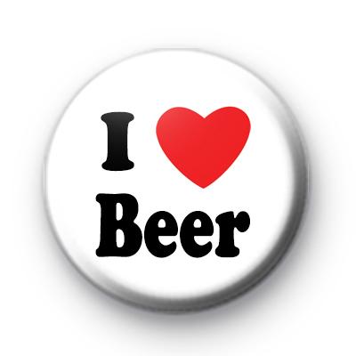 I Love Beer Badge